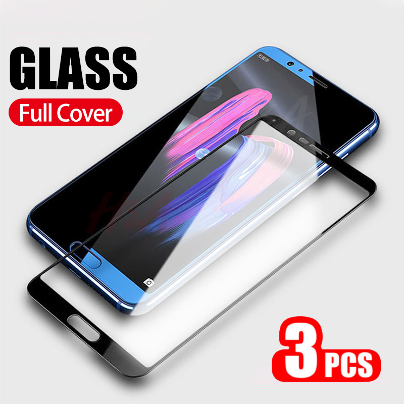 3Pcs 3D Curved Full Cover Protective Glass On The For Huawei Honor 9 10 Lite 8X Tempered Screen Protector Honor 20 Pro 8X Glass
