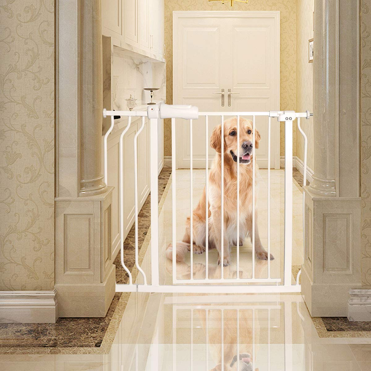 Baby gate for Child Protection and Isolation from Unsafe Places like Stairs and Kitchen 18
