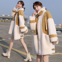 Winter Mantel Frauen Faux Pelzmantel Luxus Lamm Kaschmir Teddy Mantel Winter Dicke Warme Flauschige Lange Pelz Jacke Elegante Outwear(China)