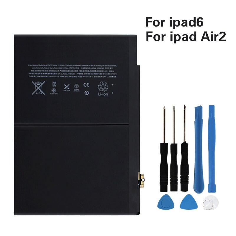 Original Battery For Apple IPad Air 2 A1547 7340mAh Replacement Battery For Ipad 6 Air 2 A1566 A1567