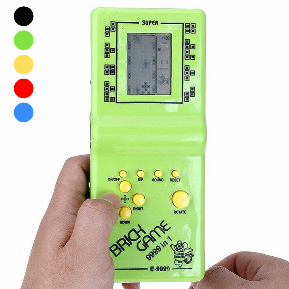 Classic Nostalgic Tetris Brick Game Toy Handheld LCD Video Games Toys Machine Arcade Mini Games Console Toys For Kids Adult