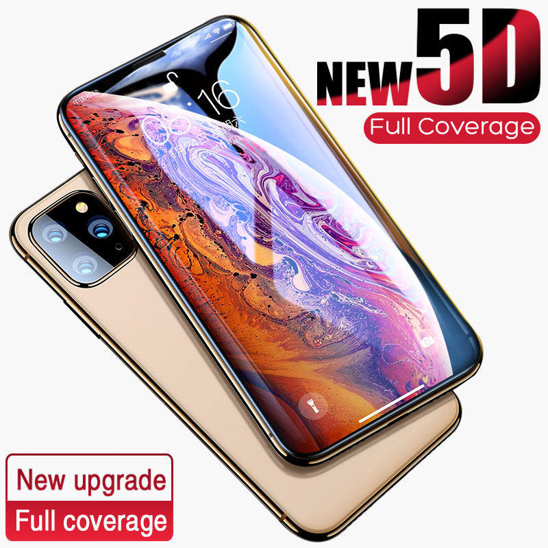 5D Curved Edge Protective Glass On The For IPhone 7 8 6 6s Plus Tempered Screen Protector For IPhone 11 Pro X XR XS Max Glass