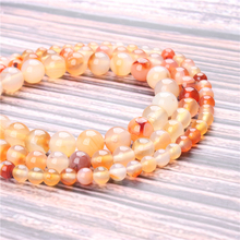 Hot Sale Natural Stone Candy Agate Beads 15.5 Pick Size: 4 6 8 10 mm fit Diy Charms Beads Jewelry Making Accessories