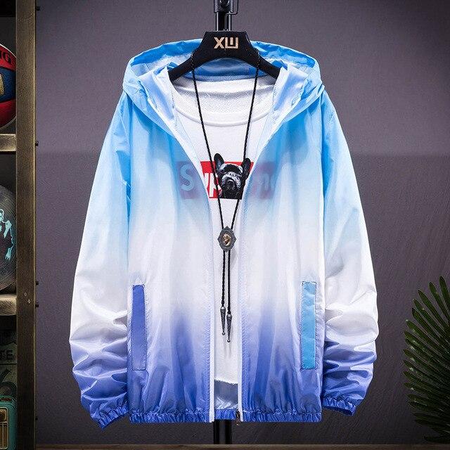 Plus Size 6XL 7XL New Spring Summer Bomber Jacket Men Women Casual Solid Windbreaker Zipper Thin Hooded Coat Outwear Male Jacket 3