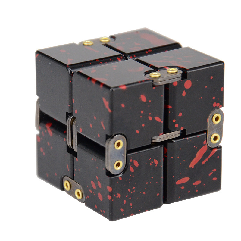 The New High Texture Infinity Aluminum Alloy Magic Cube Anxiety Fidget Cube Fidget Fidget Toys Stress Relief Toys for Adults