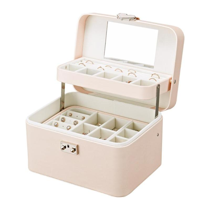 Multi-layer Earrings Box Necklace Bracelet Case Jewelry Display For Earring Ring Necklace Bracelet Organizer