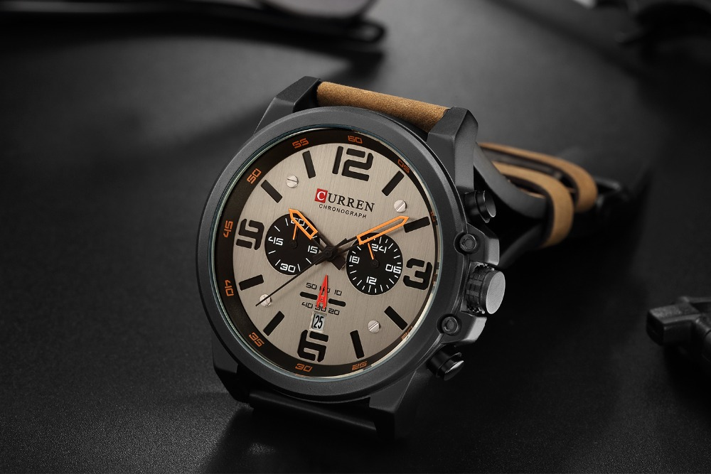 Hc35e9e6f31ff48b2bb49aa02ed74b3686 Men watch Sport Quartz Wrist Watch Man Casual Genuine Leather Waterproof Chronograph Watch Male Wristwatch Gifts For Men
