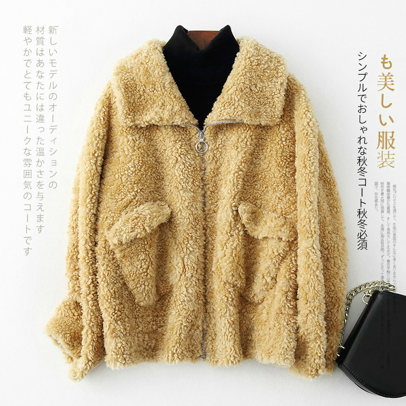 100% Wool Jacket Autumn Winter Coat Women Clothes 2020 Real Fur Coat Korean Vintage Sheep Shearling Tops Manteau Femme ZT3873