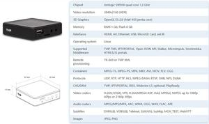 Image 2 - 2020 New Linux Tvip530 S Box V.530 Amlogic S905W Quad Core Set Top Box 4K H.265 Tvip 530 PK Tvip 410 Tv Box