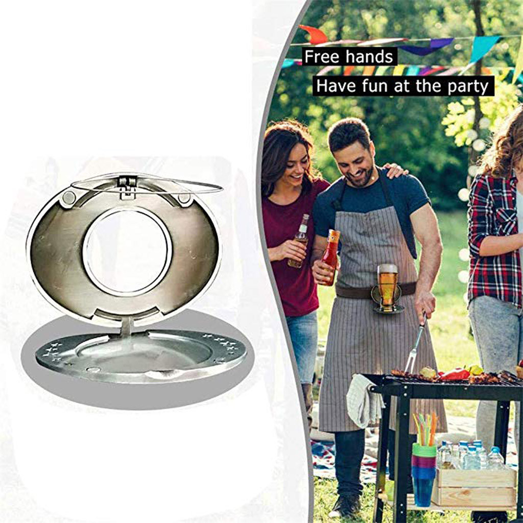 10.2x8cm Outdoor Metal Beer Head Belt Funny Bottle Buckle For Camping Picnic Wine Can Holder 2019 Outdoor Tableware D5