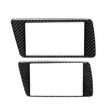 Interior Carbon Fiber Car Air Conditioning  Panel Trim Stickers For audi W91F 1 pc carbon fiber car interior trim control panel stickers for audi q5 10 17