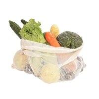 주방 야채에 대 한 9 x 재사용 가능한 코 튼 메쉬 스토리지 가방 과일 식료품 주최자 에코-친화적 인 빨 쇼핑 가방