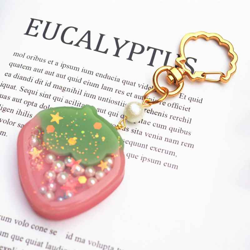 Key Ring Keychain DIY Handmade Making Accessories Molds Shell Cat Dolphin  Shape Buckle Crystal Epoxy Mold