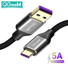 QGEEM 5A USB Type C câble pour Huawei P20 Mate 20 Pro USB charge rapide USB C câble de données Honor V10 câble de suralimentation type-c
