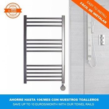 Chromed MALLORCA electric towel rail (770x500mm)