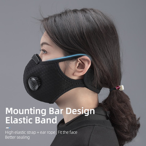 Image 2 - ROCKBROS רכיבה על אופניים פנים מסכת מסנן PM2.5 אנית ערפל לנשימה Dustproof אופניים הנשמה ספורט אבק הגנת אנטי אגל