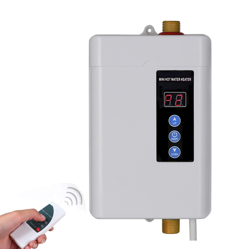 4000W Instant Electric Water Heater Bathroom Kitchen Faucet Intelligent Touch Heating Fast With Temperature Display 110V/220V
