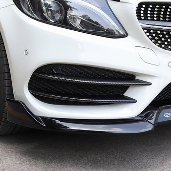 Car Front Bumper Lip Splitter Spoiler Sticker for Mercedes Benz C Class W205 C180 C200 C220 C250 C300 C350 C400 C450 image