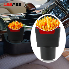 LEEPEE Car French Fries Holder Storage Box Bucket Fries Snacks Box Food Drink Cup Holder Travel Eat in the car Car-Styling