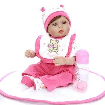 42cm Soft Silicone Reborn Baby Girl Dolls Realistic Looking Newborn Baby Doll reborn Toddler bebe Birthday Gift