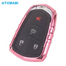 ATOBABI TPU Car Key Cover For Cadillac XT4 XT5 ESV ESCALADE CTS XTS CT6 ATS SRX Pink Smart Remote Control Fob Case Protector Bag