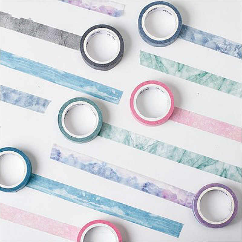 A Reel of Lovely Washi Tape DIY Beautiful Colorful Decoration for Scrapbooking Delicate Fantasy Masking Tape Adhesive Tape