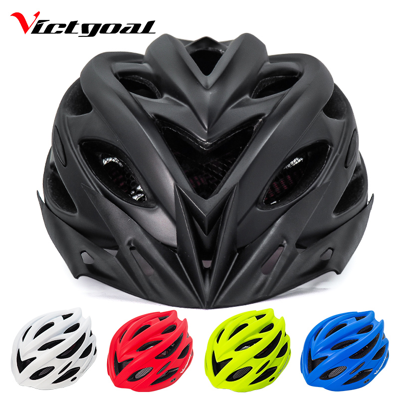VICTGOAL Molded Bike-Helmet Back-Light Mountain-Road-Bike Black Women Integrally MTB