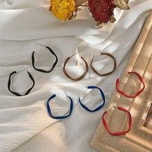Candy-colored circle hoop earrings female ring Korean temperament net red design ear hoop earrings 2020 new wave glitter design hoop earrings