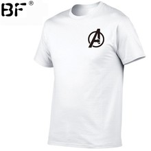 Imprimé Avengers 4 Endgame quantique royaume Cosplay Costume T-shirt hommes royaume super-héros T-shirt Polyester(China)
