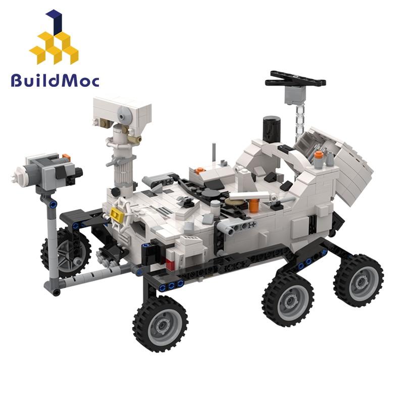 Aviation ville rover sonde spatiale Station de véhicule fusée lunaire landser curiosité Rover navette navire blocs de construction jouet
