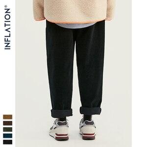 Image 2 - INFLATION 2020 Collection Men Casual Pants Wide Wale Men Corduroy Slacks Loose Fit Overalls Solid Color Men Corduroy Pant 93325W
