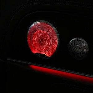 Image 5 - 4Pcs/Set LED Audio Sound Speaker cover For Mercedes Benz E Class W213 2015 2018 Trim Cover Case Emblem cover