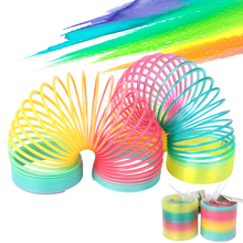 Rainbow Spring Coil Toys Plastic Folding Spring Coil Sports Game Child Funny Fashion Educational Creative Toys Gift for Children cheap Monster Carnival 25-36m 4-6y 7-12y 12+y CN(Origin) Unisex TTS00135 NONE two size