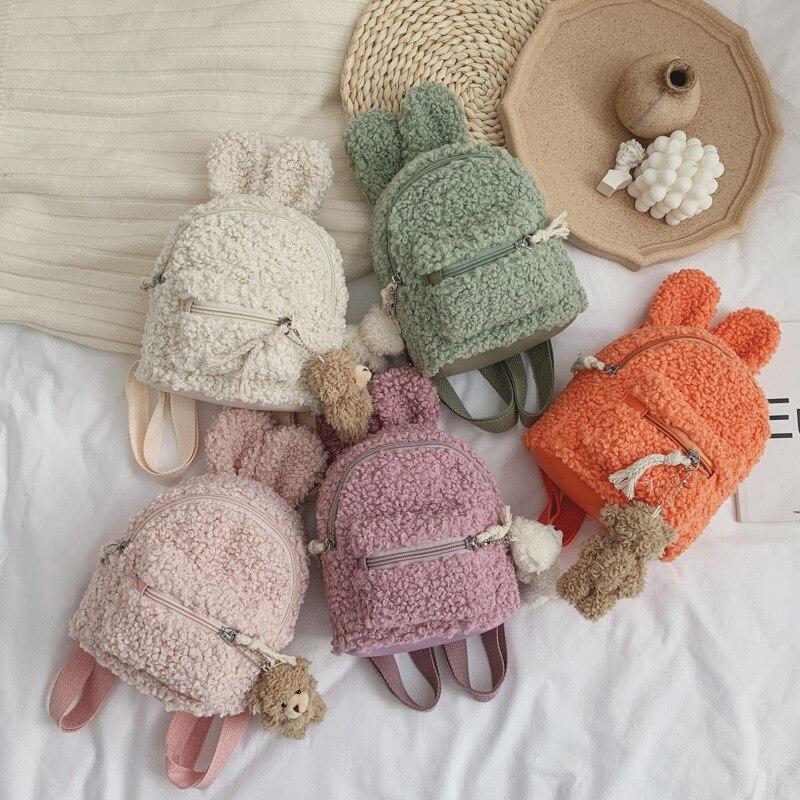 New Cute Stuffed Plush Kids Baby Toddler School Bags Backpack Kindergarten Schoolbag For Girls Boys 3D Cartoon Animal Backpack
