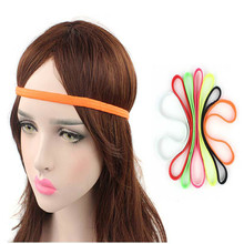 Sports headband high quality polyester + rubber band, sweat general for women and men, pure color