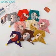 Новый детский шарф warmom Зимний вязаный с мультяшным принтом