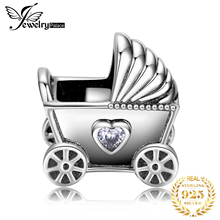 JewelryPalace Stroller 925 Sterling Silver Beads Charms Original Fit Bracelet original For Jewelry Making