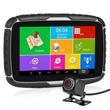 Fodsports 5,0 мотоцикл Android 6,0 GPS навигация 720P видео рекордер Водонепроницаемый Bluetooth GPS навигатор Автомобильный Мотоцикл Cam DVR