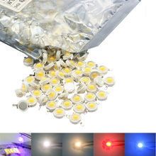 High Power LED Chip 3W Warm Cool White Rot Blau Grün UV Gesamte Spektrum 660nm 440nm LED Wachsen Licht für 1W 3 watt Licht COB Perlen(China)
