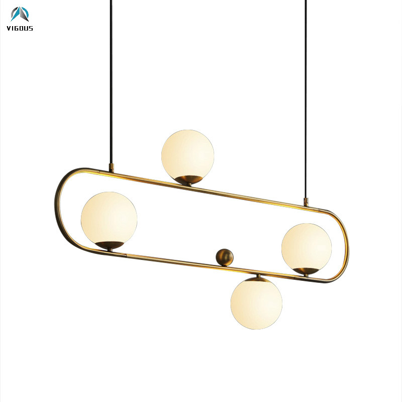 Nordic Dining Table Gold / Black Metal E27 Led <font><b>Pendant</b></font> <font><b>Light</b></font> Hanging Lamp Luminarias Oval Adjustable Led Suspend Lighting image