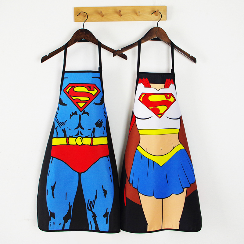 Personality Sexy Kitchen Waterproof Apron For Adults Woman Delantal Cocina Hombre Barista Bbq Fun Muscle Printed Apron Bibs