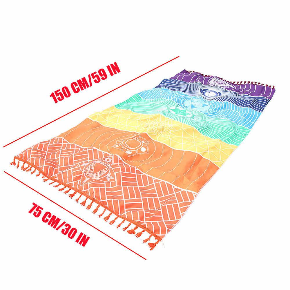BeddingOutlet 7 Chakra Strand Handtuch Regenbogen Streifen Für Erwachsene Mandala Decke Mikrofaser Bad Handtuch Böhmischen Wandteppich Yoga Mat02