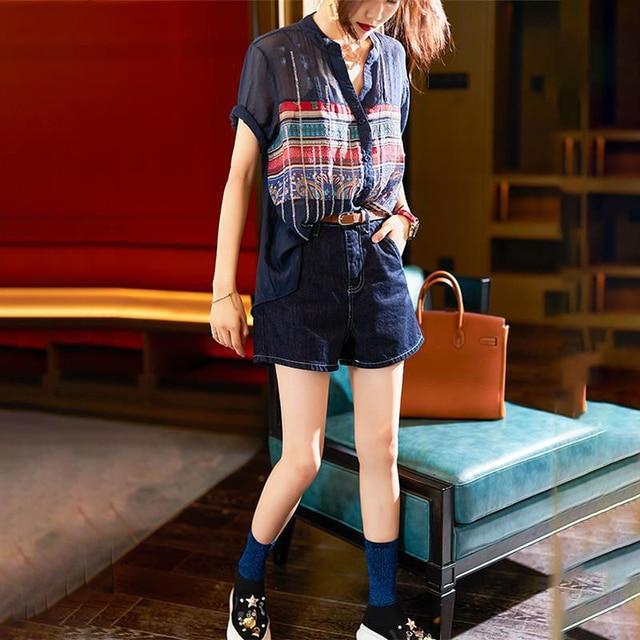 Plus Size Women Spring Summer Chiffon Blouses Shirts Lady Casual Short Sleeve Turn-down Collar Chiffon Blusas Tops DD8913 3
