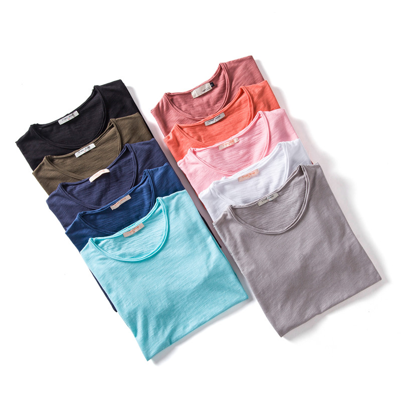 5PCS/SET 2020 New Summer 100% Cotton O-neck Mens T-shirts Casual Style Short Sleeve Solid T Shirt Men 10 Colors Male Tops Tees