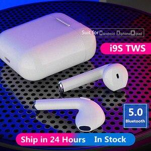 I9S TWS Беспроводные Bluetooth 5,0 наушники мини наушники спортивные Гарнитура с зарядным боксом для всех смартфонов