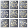 Деревянный Свадебный настенный знак на заказ, персонализированный знак с именем невесты и жениха, знак в форме круга для вечеринки, уникаль...