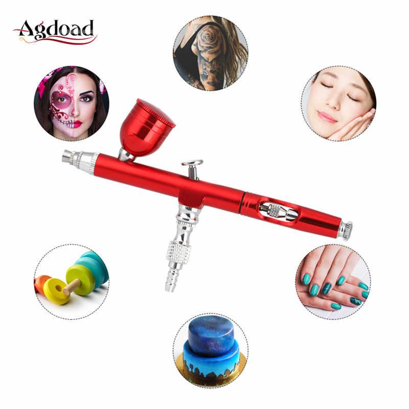 0.3mm memesi hava fırçası seti dövme vücut boya sprey pompası kalem tırnak sanat kek dekorasyon fırça hava kompresörü fırça anahtarı ile saman