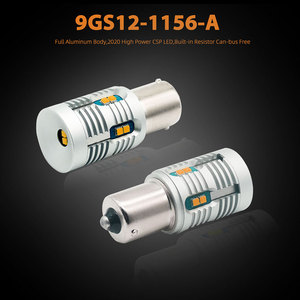 Image 2 - 2 pièces Bau15s 7507 PY21W LED Canbus, sans erreur, Flash, 2000lm BA15S P21W 7506 1156 LED, ampoule de Signal 6000k, blanc/ambre, jaune