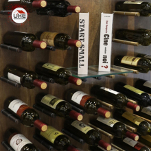 UKE алюминиевый сплав красное вино стойки настенное крепление бутылки хранения держатель стойки вина дисплей полка 2 шт. в пару