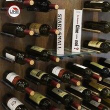 UKE Aluminum Alloy Red Wine Racks Wall Mount Bottle Storage Holder Strudy Wine Display Shelf 2 pcs per pair